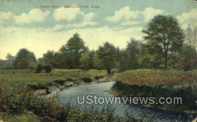 Town River - Bridgewater, Massachusetts MA Postcard