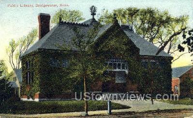 Public Library - Bridgewater, Massachusetts MA Postcard