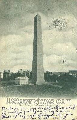 Bunker Hill Monument - Boston, Massachusetts MA Postcard