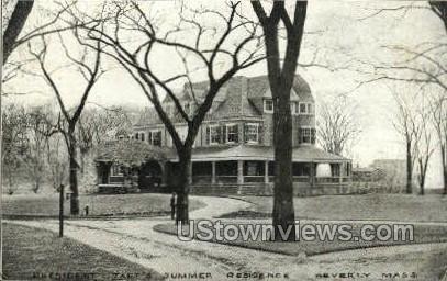 President Taft's Residence - Beverly, Massachusetts MA Postcard