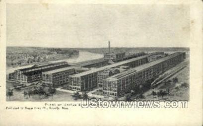 Plant, United Shoe Machinery Co. - Beverly, Massachusetts MA Postcard