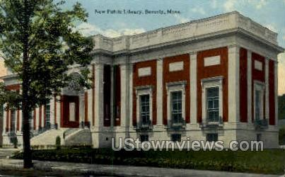Public Library - Beverly, Massachusetts MA Postcard