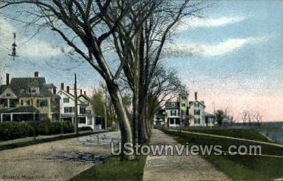 Lothrop St. - Beverly, Massachusetts MA Postcard
