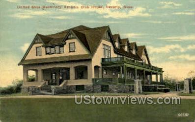 Athletic Club House - Beverly, Massachusetts MA Postcard