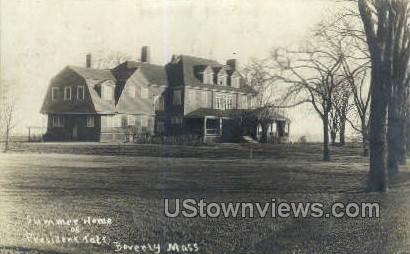 Summer Home President Taft - Beverly, Massachusetts MA Postcard