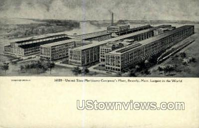 United Shoe Machinery Co Plant - Beverly, Massachusetts MA Postcard