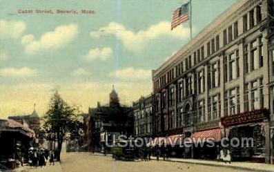 Cabot St. - Beverly, Massachusetts MA Postcard