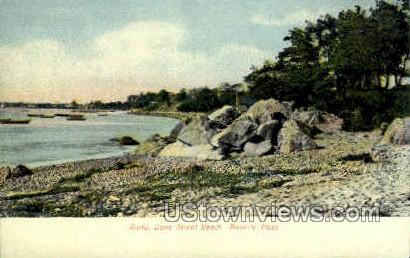 Rocks, Dane St. Beach - Beverly, Massachusetts MA Postcard