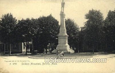 Soldiers Monument - Beverly, Massachusetts MA Postcard