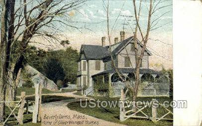 Home of Oliver Wendell Holmes - Beverly, Massachusetts MA Postcard