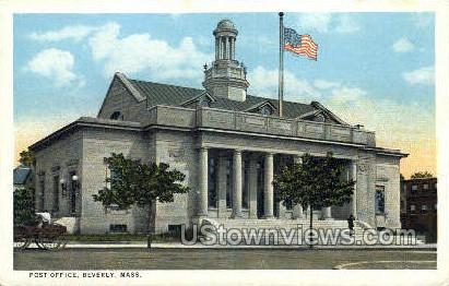 Post Office - Beverly, Massachusetts MA Postcard
