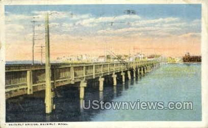 Beverly Bridge - Massachusetts MA Postcard