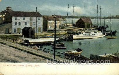 Old Fish Wharf - Beverly, Massachusetts MA Postcard