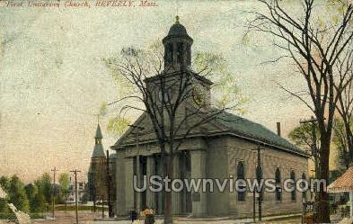 First Unitarian Church - Beverly, Massachusetts MA Postcard
