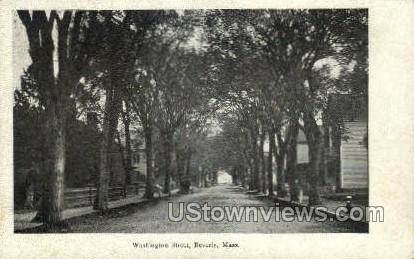 Washington St. - Beverly, Massachusetts MA Postcard