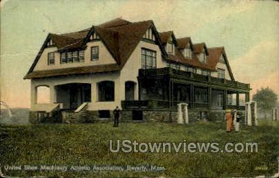 United Shoe Machinery Athletic - Beverly, Massachusetts MA Postcard