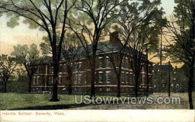 Hardis School - Beverly, Massachusetts MA Postcard