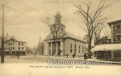 First Church in Beverly - Massachusetts MA Postcard