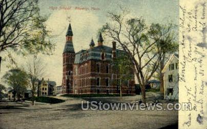 High School - Beverly, Massachusetts MA Postcard