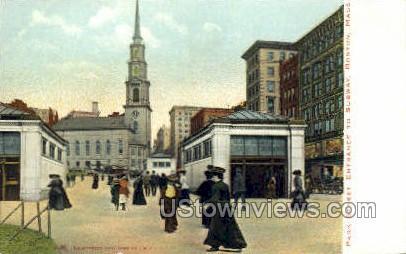 Park St. - Boston, Massachusetts MA Postcard