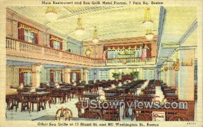Main Restaurant & Sea Grill - Boston, Massachusetts MA Postcard