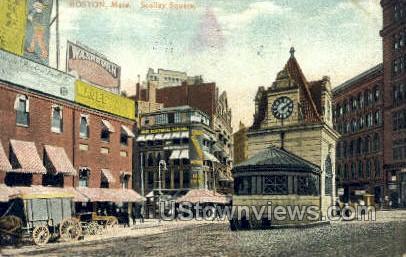 Scollay Square - Boston, Massachusetts MA Postcard