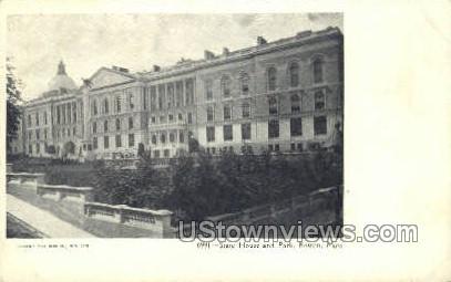 State House & Park - Boston, Massachusetts MA Postcard
