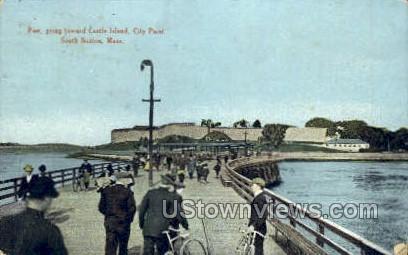 Pier - Boston, Massachusetts MA Postcard