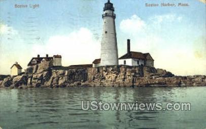Boston Light - Massachusetts MA Postcard