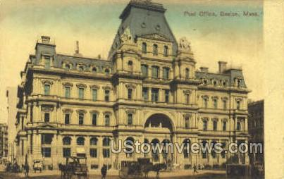 Post Office - Boston, Massachusetts MA Postcard