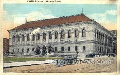 Public Library - Boston, Massachusetts MA Postcard