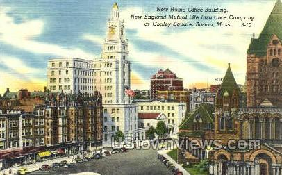 New England Mutual Life Insurance - Boston, Massachusetts MA Postcard