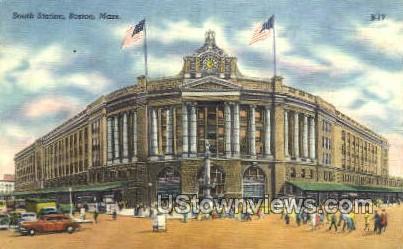 South Station - Boston, Massachusetts MA Postcard
