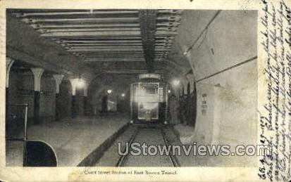 Court St. Station - Boston, Massachusetts MA Postcard
