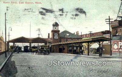 North Ferry - Boston, Massachusetts MA Postcard