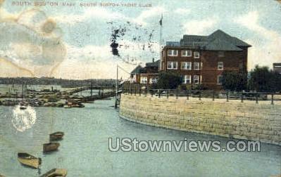 South Boston Yacht Club - Massachusetts MA Postcard