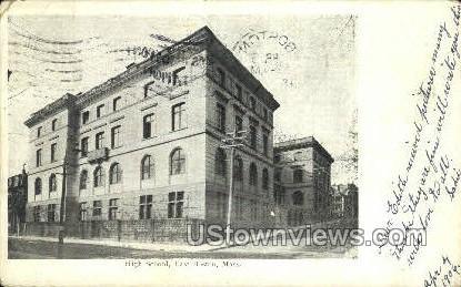 High School - Boston, Massachusetts MA Postcard