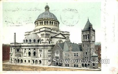 Christian Science Cathedral - Boston, Massachusetts MA Postcard
