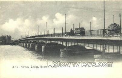 Harvard Bridge - Boston, Massachusetts MA Postcard