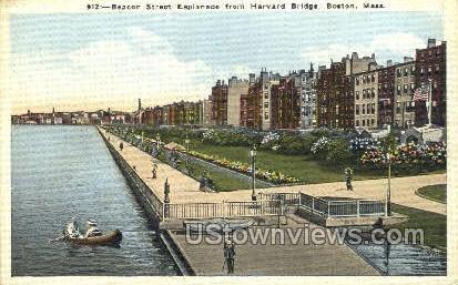 Beacon St. Esplanade - Boston, Massachusetts MA Postcard