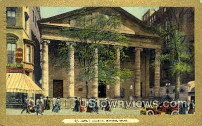 St. Paul's Church - Boston, Massachusetts MA Postcard