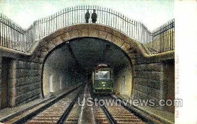 East Boston Tunnel - Massachusetts MA Postcard