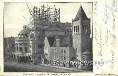 First Church of Christ - Boston, Massachusetts MA Postcard