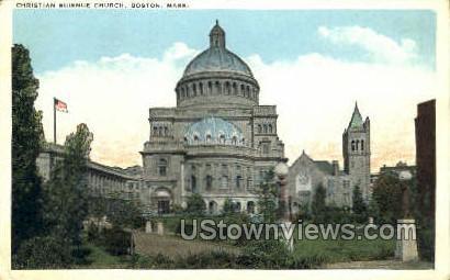 Christian Science Church - Boston, Massachusetts MA Postcard