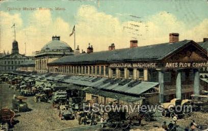 Quincy Market - Boston, Massachusetts MA Postcard