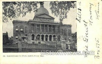 Massachusetts State House - Boston Postcard