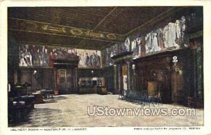 Boston Public Library - Massachusetts MA Postcard