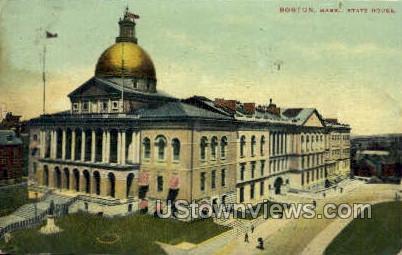 State House - Boston, Massachusetts MA Postcard