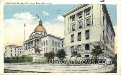 State House, Beacon Hill - Boston, Massachusetts MA Postcard