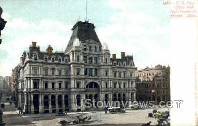 U.S. Post Office & Sub Treasury - Boston, Massachusetts MA Postcard